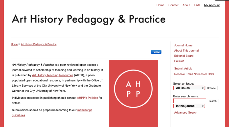 Art History Pedagogy and Practice